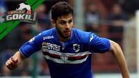 Video replay tendangan Andrea Ranocchia yang mengenai wajah pemain Sassuolo hingga hidungnya berlumuran darah