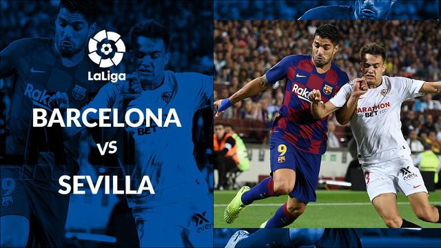 Berita video statistik Barcelona vs Sevilla pada laga pekan ke-8 La Liga 2019-2020, Senin (7/10/2019) di Camp Nou, Barcelona.
