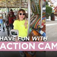 Jalan-Jalan di Taman Hiburan Ditemani Action Cam Super Kece