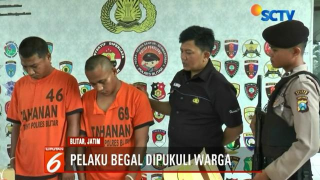 Pelaku begal yakni Sarino dan Hadi baru saja keluar dari lapas tiga bulan yang lalu karena kasus pencurian kendaraan bermotor.