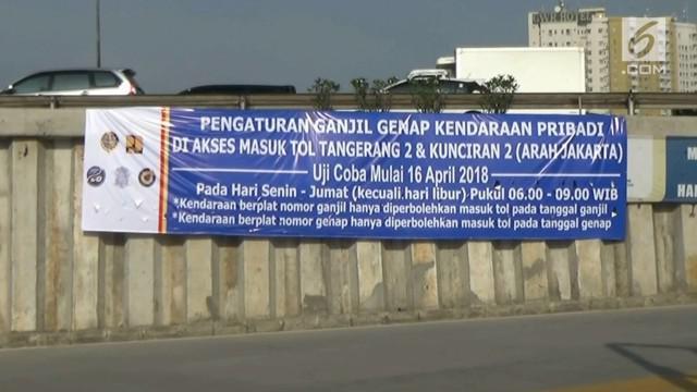Mulai Senin 16 April 2018 uji coba sistem ganjil genap akan diberlakukan di Tol Tangerang-Jakarta. guna menunjang uji coba ini pemerintah menyediakan kanting parkir dan bus premium