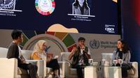 Diskusi bersama Diah Saminarsih, M.Sc (Pendiri CISDI & Penasihat Senior Bidang Gender dan Kepemudaan Untuk WHO Global), Madhusudan (Youth Advocate TB Free World - Nepal), dan Dr. Tereza Kasaeva (Direktur WHO Global untuk Program TB).