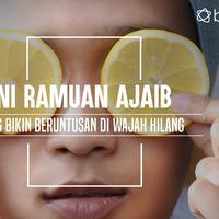 Beruntusan di wajah hilang dengan ramuan ajaib ini. (Foto: Adrian Putra/Bintang.com, Digital Imaging: Muhammad Iqbal Nurfajri/Bintang.com).