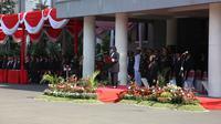 Wali Kota Risma saat peringatan Hari Kesaktian Pancasila (Liputan6.com / Dian Kurniawan)