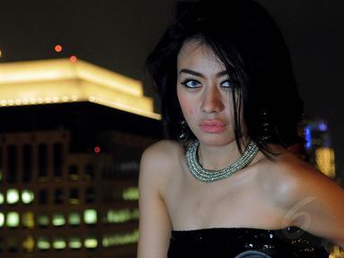 Anggun Maharani atau yang lebih dikenal dengan DJ Anggun saat berkunjung ke redaksi Liputan6.com, Senin (11/8/14). (Liputan6.com/Faisal R Syam)