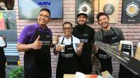 "PT Bank Rakyat Indonesia (Persero), Tbk menggelar ajang barista showcase dengan tajuk ""A Cup for Lombok by BRI Kopi'' di area parkir Sarinah Thamrin."