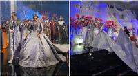 Setelah bergaya mirip Putri Jasmine di resepsi, pengantin di Jember juga tampil bergaun ala Game of Thrones. (dok. Instagram @berlianinsyirah/Putu Elmira)