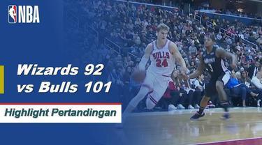 Kelima starter Chicago mencetak angka dua kali lipat saat Bulls mendapatkan kemenangan di jalan atas Wizards 101-92. Zach LaVine memimpin muatan dengan 24 poin sementara Bradley Beal mencetak angka tertinggi dalam pertandingan dengan 43 poin untuk Wa...