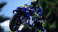 Pembalap Movistar Yamaha, Valentino Rossi. (Twitter/Yamaha MotoGP)
