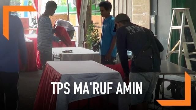 Ma'ruf Amin dan keluarga direnanakan akan menyoblos di Koja, Jakarta Utara. Persiapan TPS tempat Ma'ruf akan menggunakan hak suaranya terus dilakukan.