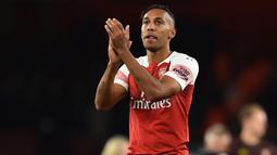 1. Pierre-Emerick Aubameyang (Arsenal) - 7 Gol. (AFP/Glyn Kirk)