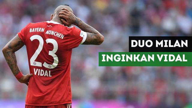 AC Milan dan Inter akan bersaing mendapatkan gelandang Bayern Munchen, Arturo Vidal.