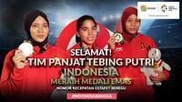 Selamat Meraih Medali Emas Tim Panjat Tebing Putri Indonesia (Bola.com/Adreanus Titus)