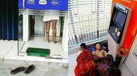7 Kelakuan Kocak Saat di ATM Ini Bikin Tepuk Jidat (sumber: Instagram.com/receh.id)