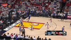 Berita video game recap NBA 2017-2018 antara Philadelphia 76ers melawan Miami Heat dengan skor 128-108.