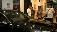 Presiden Jokowi akhirnya tiba di RS PKU Muhammadiyah Solo. (Liputan6.com/Fajar Abrori)