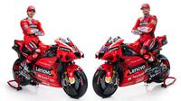 Ducati menurunkan dua pembalap baru pada MotoGP 2021. Keduanya adalah jebolan tim satelit mereka Pramac: Pecco Bagnaia (kiri) dan Jack Miller. (Twitter/Ducati)