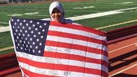 Nuhzatul Ainiyah yang mengikuti program pertukaran pelajar Youth Exchange Study (YES) mesti menjalani puasa dan lebaran di Amerika ( Nuhzatul Ainiyah)