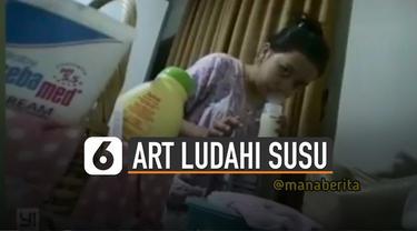 Hal menjijikan terjadi setelah perempuan itu selesai menuangkan susu ke dalam botol.