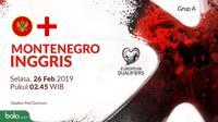 Kualifikasi Piala Eropa 2020 - Montenegro Vs Inggris (Bola.com/Adreanus Titus)