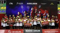 Sebanyak 24 atlet berhasil meraih Super Tiket dari Audisi Umum Djarum Beasiswa Bulutangkis 2019 yang digelar di GOR KONI, Kota Bandung. (dok. PB Djarum)