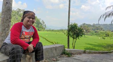 Imansyah Aditya Fitri, penyandang down syndrome asal Sumatera Barat.