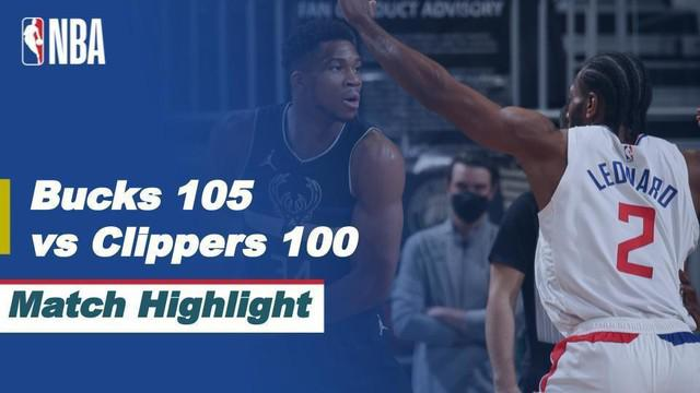 Berita Video Highlights NBA, LA Clippers Menelan Kekalahan dari Milwaukee Bucks (1/3/2021)