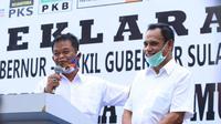 Pasangan Bakal Calon Gubernur dan Wakil Gubernur Sulteng Rusdi Mastura - Ma'mun Amir saat deklarasi untuk maju dalam Pilkada tahun 2020, Kamis (3/9/2020). (Foto: Salahudin).