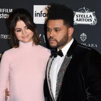 Putus dari Bella Hadid pada November 2016, The Weeknd pun langsung jadian dengan Selena Gomez pada Januari 2017. (Angela Weiss/AFP)