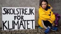 Gadis berusia 16 tahun asal Swedia, bernama Greta Thunberg (Swara Tunaiku)
