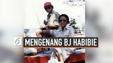 BJ Habibie dan Ainun tampil serasi dalam setiap kesempatan. Tak terkecuali saat mereka mengabadikannya dalam sejumlah foto.