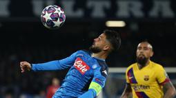 7. Lorenzo Insigne. Striker kelahiran 4 Juni 1991 ini adalah satu-satunya pemain yang masih aktif bermain. Telah mencetak 12 gol untuk Napoli yang musim ini bermain di Liga Europa. (AFP/Carlo Hermann)