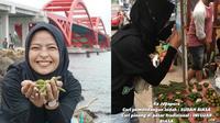Tantri Kotak cari pinang di Pasar Jayapura. (Instagram/@tantrisyalindri)