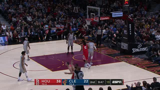 Berita video game recap NBA 2017-2018 antara Houston Rockets melawan Cleveland Cavaliers dengan skor 120-88.