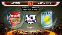 Arsenal vs Aston Villa (bola.com/Rudi Riana)
