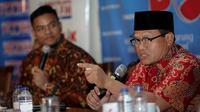 Sekretaris Jenderal Perhimpunan Advokat Indonesia (Peradi) Sugeng Teguh Santoso bicara soal Perppu Ormas, di Jakarta, Sabtu (15/7/2019). (Liputan6.com/Faizal Fanani)