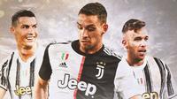 Juventus - Cristiano Ronaldo, Mattia De Sciglio, Arthur Melo (Bola.com/Adreanus Titus)