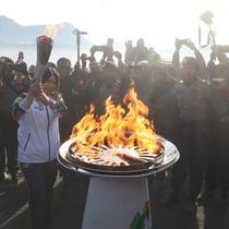 Rangkaian kirab obor Asian Games 2018