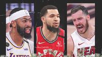 NBA - Anthony Davis, Fred VanVleet, Goran Dragic (Bola.com/Adreanus Titus)