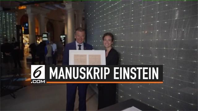 Albert Enstein meninggalkan manuskrip yang didonasikan ke museum Nobel Swedia. Kira-kira apa ya yang ditulis Einstein?