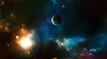 Ilustrasi planet.