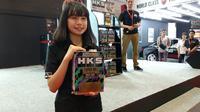 Oli HKS meluncur di Indonesia International Motor Show 2019(Amal/Liputan6.com)