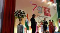 Duta Besar India Berpidato pada Perayaan Hari Republik ke-70 di Jakarta (Liputan6 / Siti Khotimah)