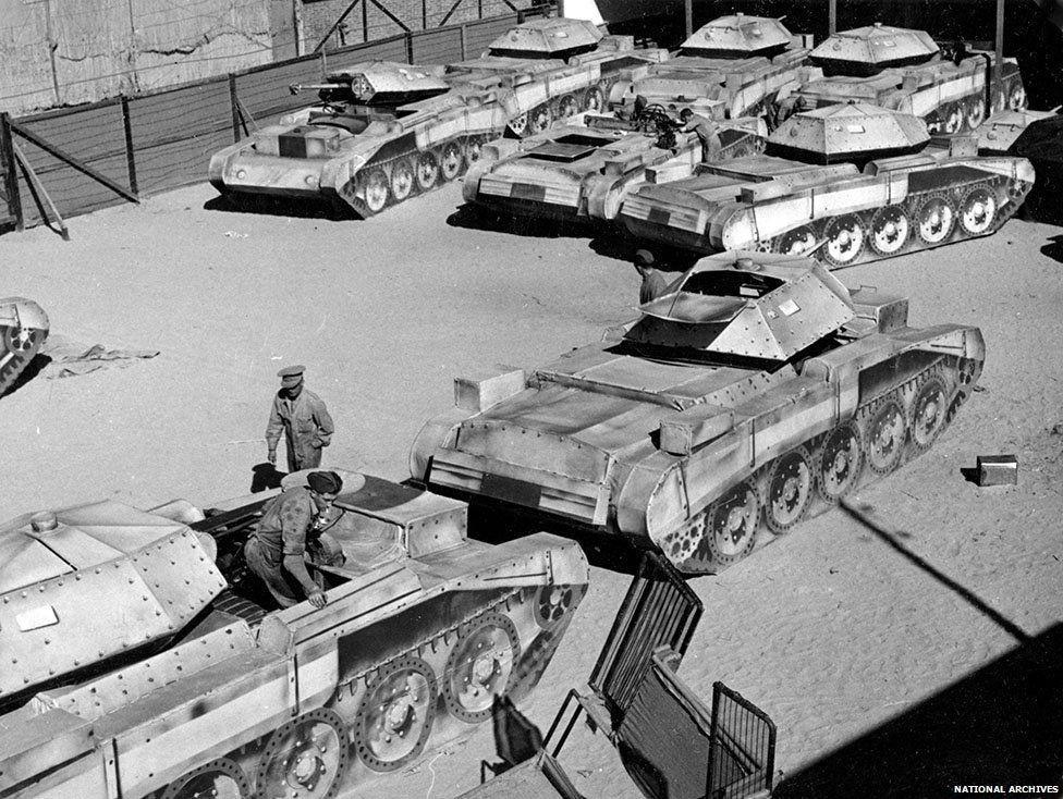 Tank balon karet Perang Dunia II (National Archives Inggris)