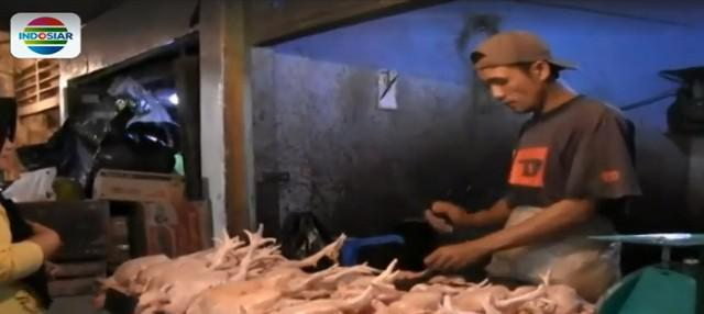 Kondisi serupa juga terjadi di Pasar Raya, Padang, Sumatera Barat. Kandang ayam milik pedagang di pasar tampak kosong.