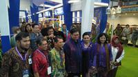 Menteri Perindustrian (Menperin) Airlangga Hartarto membuka pameran Adiwastra Nusantara ke-12. Liputan6.com/Septian Deny