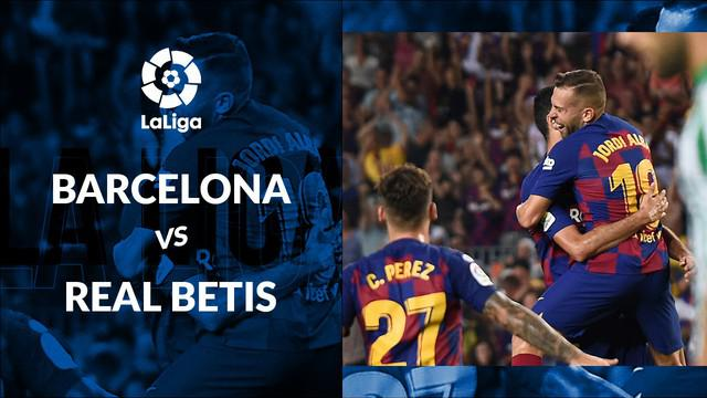 Berita video statistik Barcelona vs Real Betis pada laga pekan ke-2 La Liga 2019-2020, Senin (26/8/2019).
