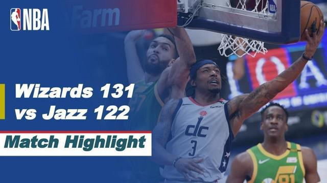 Berita video highlight NBA, Washington Wizards raih kemenangan atas Utah Jazz 131-122, Jumat (19/3/2021)