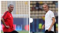 Jose Mourinho dan Zinedine Zidane (AP Photo/Boris Grdanoski)