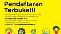 Gerakan Masker Kain menargetkan bisa memproduksi 100.000 masker kain untuk dibagikan kepada masyarakat.